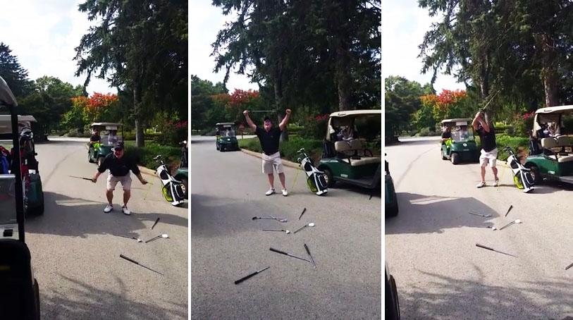 enraged golfer