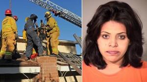 woman stuck in chimney