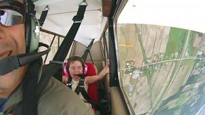 first aerobatic flight