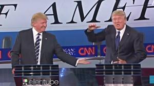 trump debating trump
